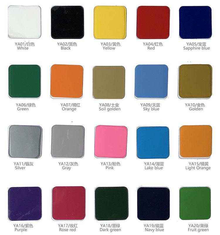 Colors of PVC Heat Transfer Vinyl