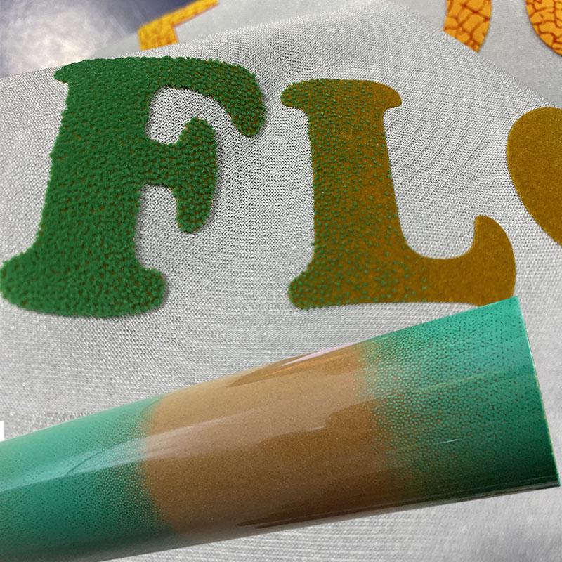 花纹植绒刻字膜